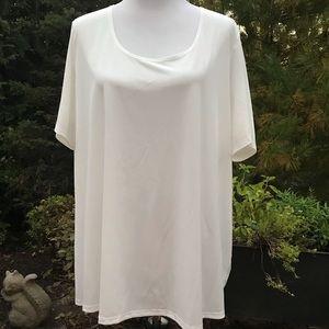 Slinky Brand White Short Sleeve Top